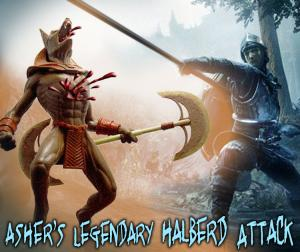 Asher's Legendary Halberd Attack by SonofJoxer