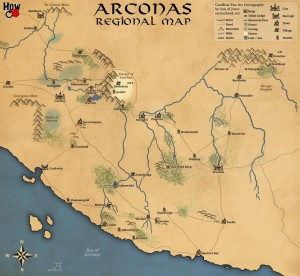 Arconas Map by SonofJoxer